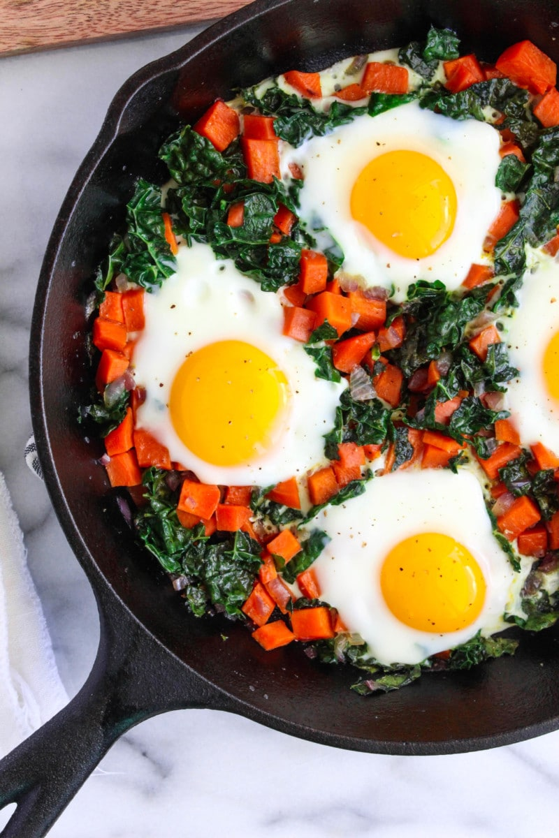 Sweet Potato and Kale Eggs