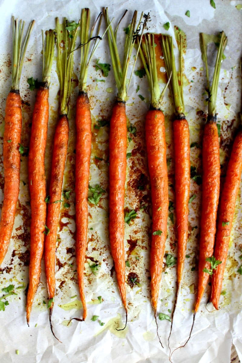 Turmeric and Maple Syrup Roasted Carrots