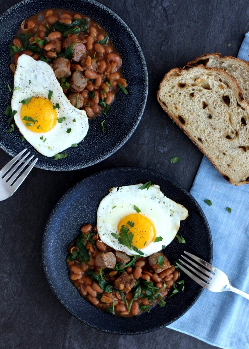Baked Beans and Egg Breakfast