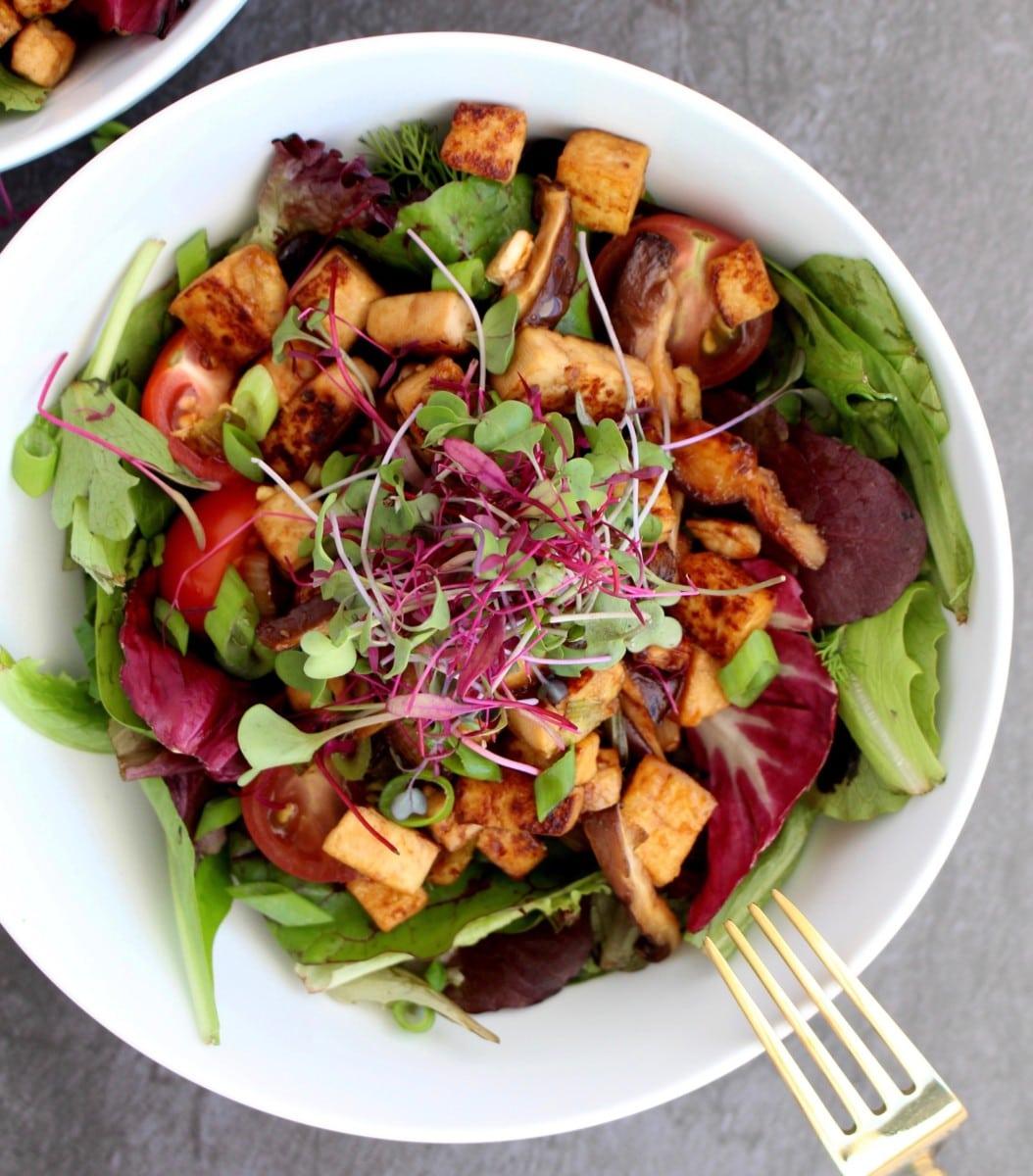 Tofu and Mushroom Salad
