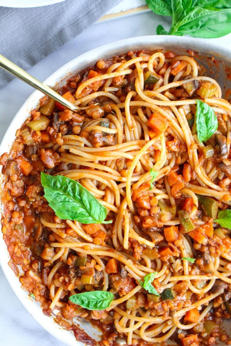 Vegetable Spaghetti Bolognese