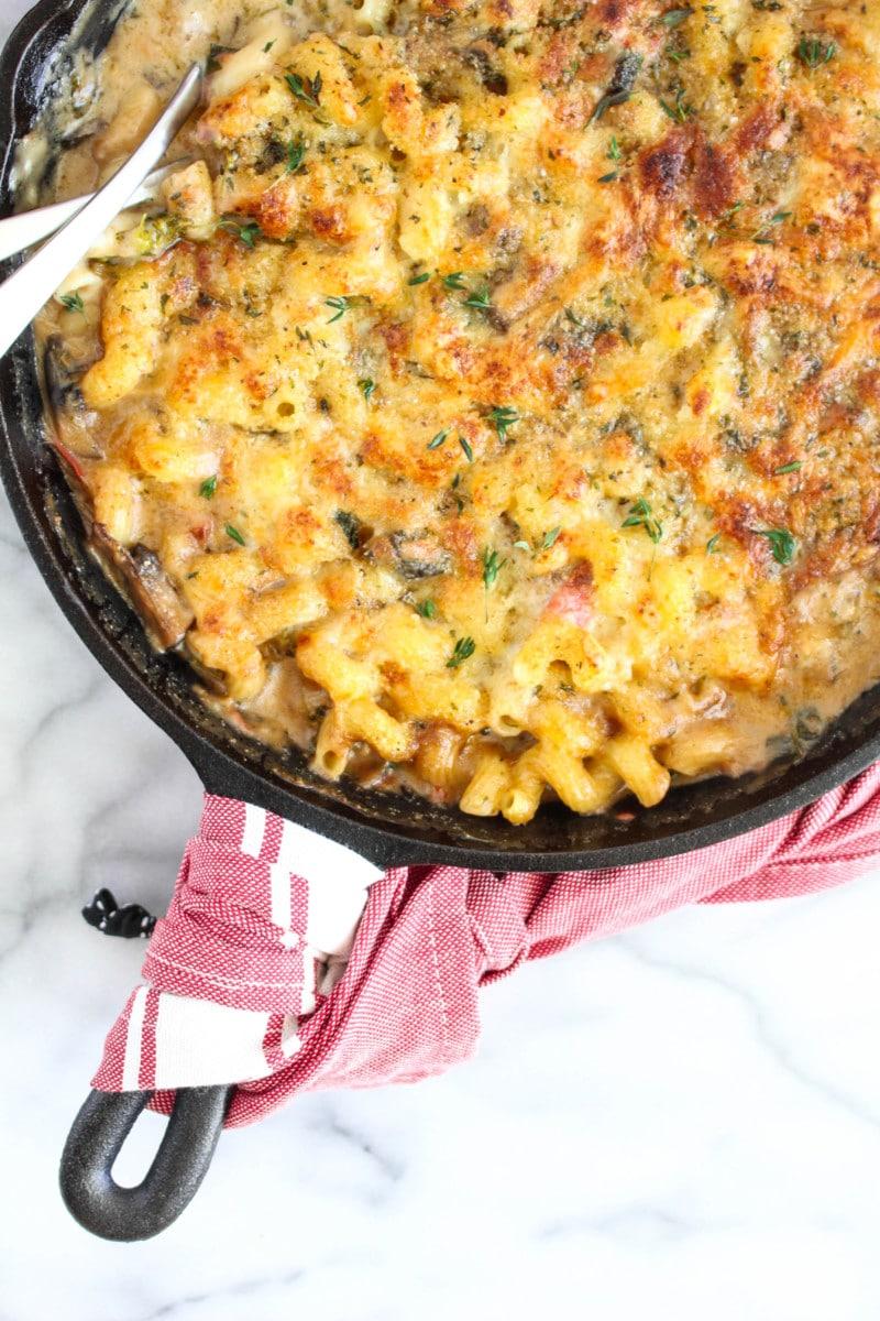 Mushroom Gravy Mac and Cheese