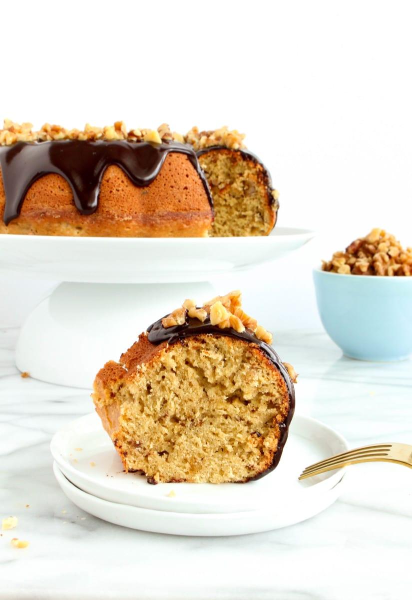 Vanilla Walnut Bundt Cake